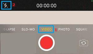 Flash Icon on iPhone Camera App