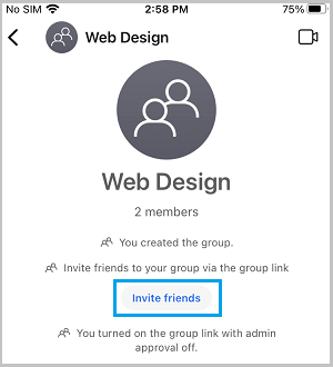 Invite Friends to Group on Signal