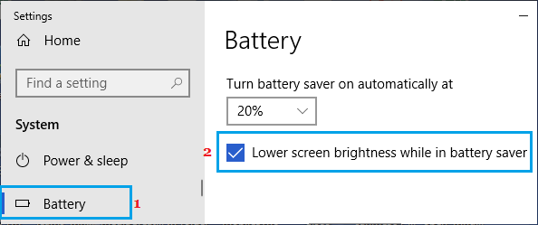 Lower Screen Brightness while in Battery Saver mode