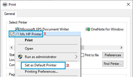 Set Default Printer Using Notepad