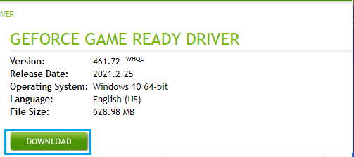 Download Game Ready GeForce Driver