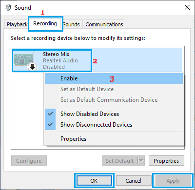 Enable Microphone on Windows PC