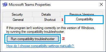 Run Microsoft Teams Compatibility Troubleshooter