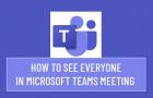 See Everyone in Microsoft Teams Meeting