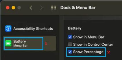 Show Battery Percentage on Mac
