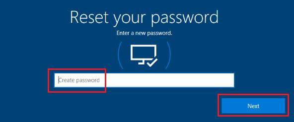 Create New Microsoft Account Password