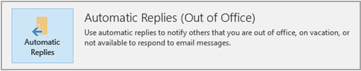 Out of Office Automatic Reply Option in Outlook