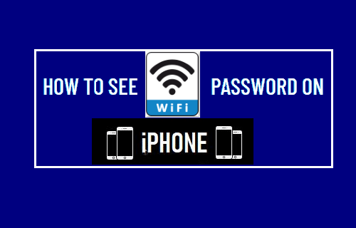 See WiFi Password on iPhone
