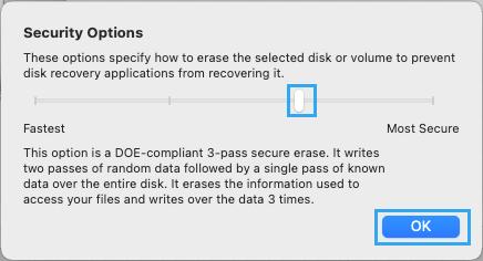 DOE-Compliant Format Using Disk Utility on Mac