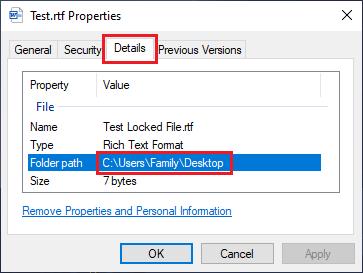 Folder Path