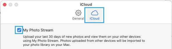 Enable Photo Stream on Mac