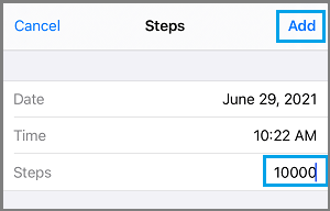 Add Steps to Health App iPhone