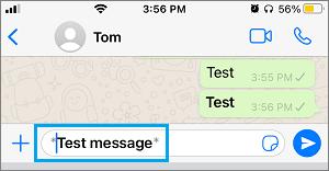 Make Text Bold in WhatsApp