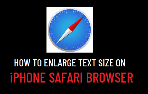 Enlarge Text Size on iPhone Safari Browser