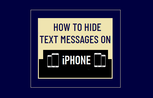 Hide Text Messages on iPhone