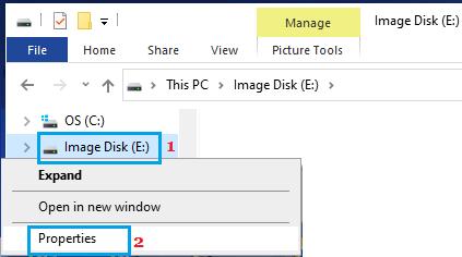 Open Flash Drive Properties