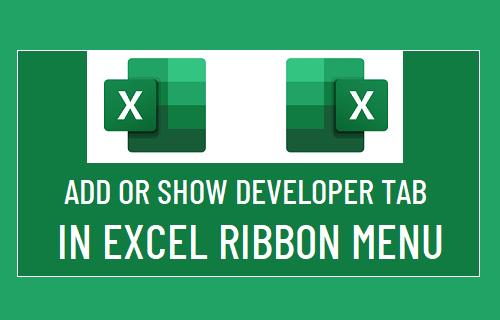 Show Developer Tab in Excel Ribbon Menu