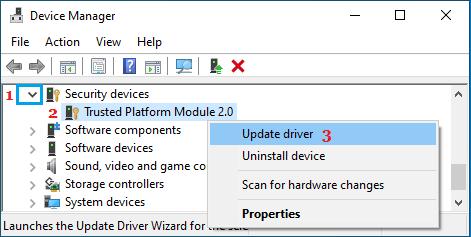 Update Trusted Platform Module 2.0 Driver
