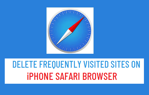Delete Frequently Visited Sites on iPhone Safari Browser