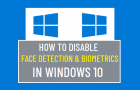 Disable Face Detection & Biometrics in Windows 10