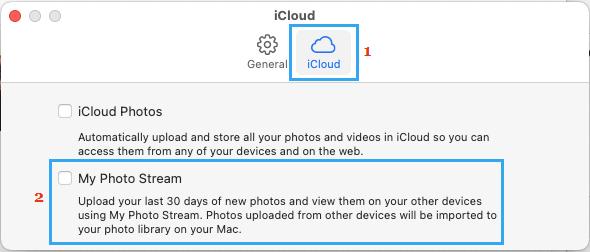 Disable My Photo Stream on Mac