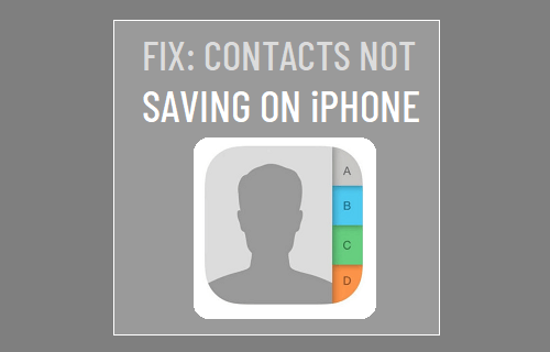 Contacts Not Saving on iPhone