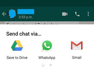 Send WhatsApp Chat Via Options